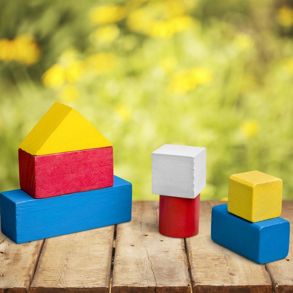 Holz Baukloetze Holzspielzeug